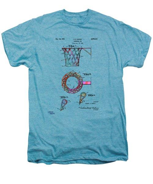 Colorful 1951 Basketball Net Patent Artwork Men's Premium T-Shirt