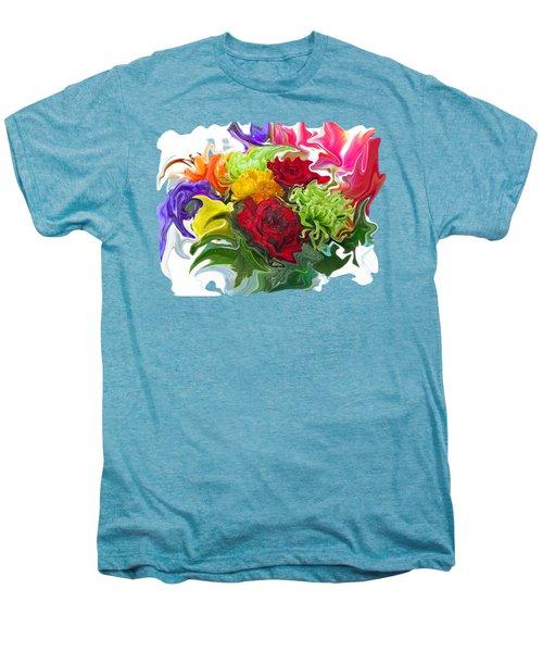 Colorful Bouquet Men's Premium T-Shirt by Kathy Moll