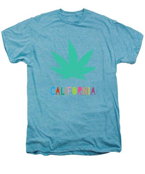 Colorful California Cannabis- Art By Linda Woods Men's Premium T-Shirt