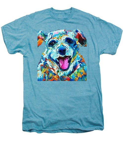 Colorful Dog Art - Smile - By Sharon Cummings Men's Premium T-Shirt