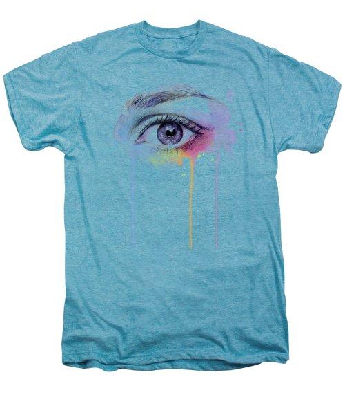 Colorful Dripping Eye Men's Premium T-Shirt