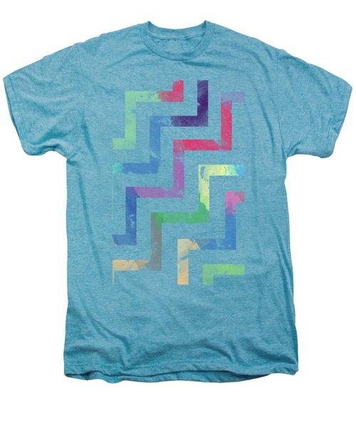 Colorful Geometric Patterns Vi Men's Premium T-Shirt by Amir Faysal
