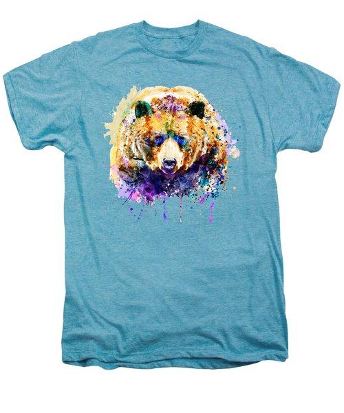 Colorful Grizzly Bear Men's Premium T-Shirt