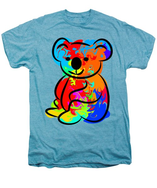 Colorful Koala Men's Premium T-Shirt by Chris Butler