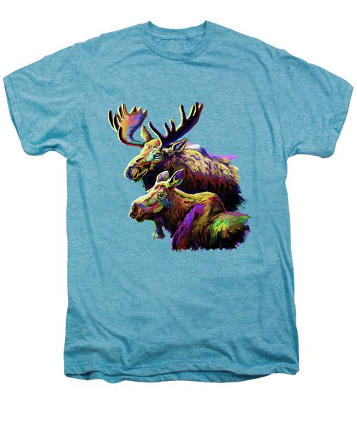 Colorful Moose Men's Premium T-Shirt