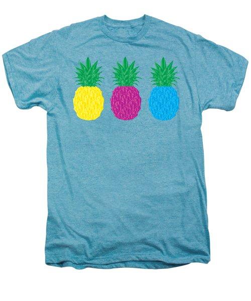 Colorful Pineapples Men's Premium T-Shirt by Leah Hawkins