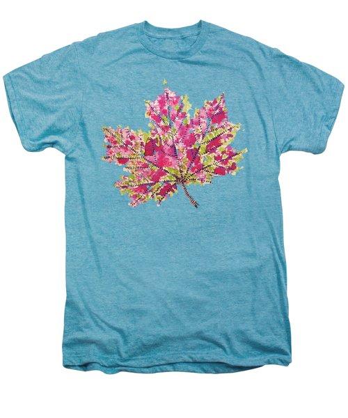 Colorful Watercolor Autumn Leaf Men's Premium T-Shirt