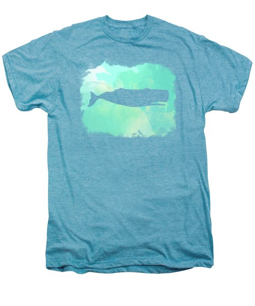 Colorful Watercolor Sperm Whale Sea Life Coastal Art Men's Premium T-Shirt