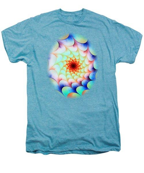 Men's Premium T-Shirt featuring the digital art Colorful Web by Anastasiya Malakhova