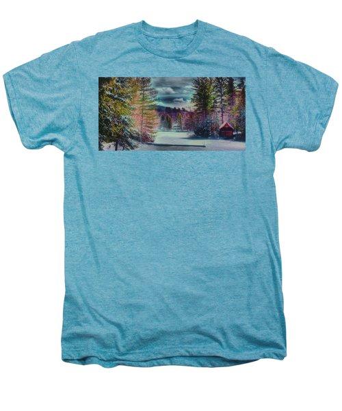 Men's Premium T-Shirt featuring the photograph Colorful Winter Wonderland by David Patterson