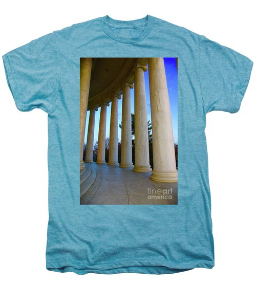 Columns At Jefferson Men's Premium T-Shirt by Megan Cohen