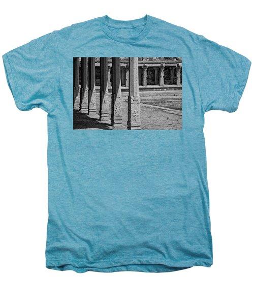 Men's Premium T-Shirt featuring the photograph Composition Of Pillars, Hampi, 2017 by Hitendra SINKAR