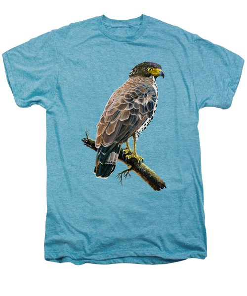 Congo Serpent Eagle Men's Premium T-Shirt by Anthony Mwangi