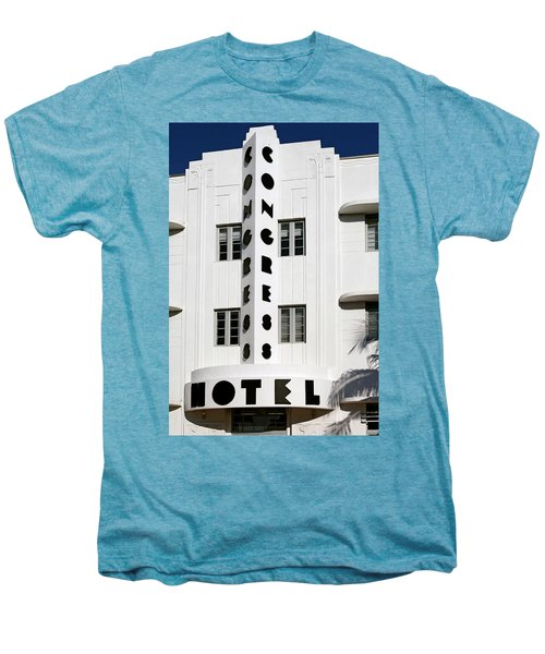 Congress Hotel. Miami. Fl. Usa Men's Premium T-Shirt