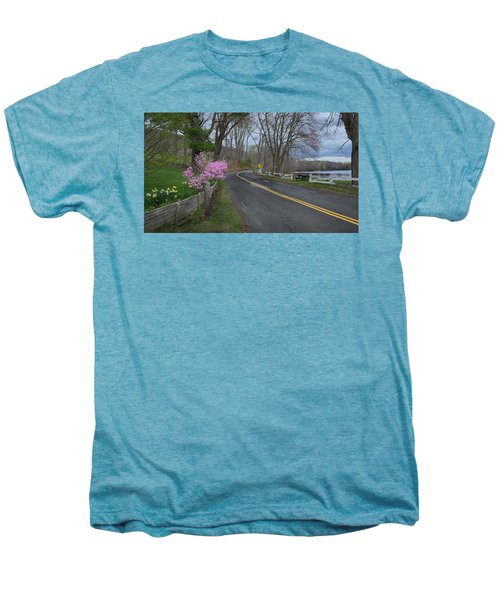 Men's Premium T-Shirt featuring the photograph Connecticut Country Road by Bill Wakeley