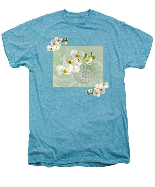 Cool Green Fusion Men's Premium T-Shirt by Gill Billington