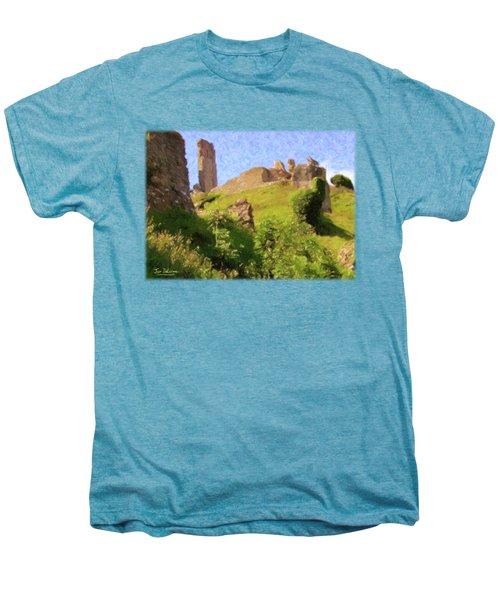 Corfe Castle Men's Premium T-Shirt by Jon Delorme