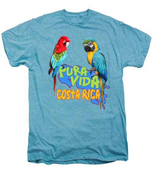 Costa Rican Macaws Men's Premium T-Shirt by Linda Bissett
