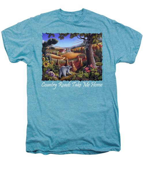 Country Roads Take Me Home T Shirt - Coon Gap Holler - Appalachian Country Landscape 2 Men's Premium T-Shirt by Walt Curlee