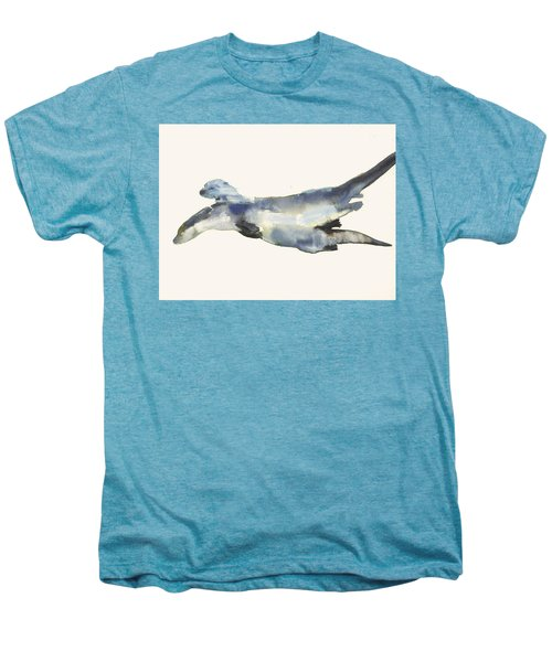 Courting Otters  Men's Premium T-Shirt by Mark Adlington