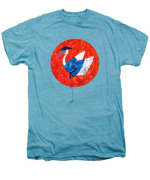Crane Men's Premium T-Shirt by Daryna Skulska