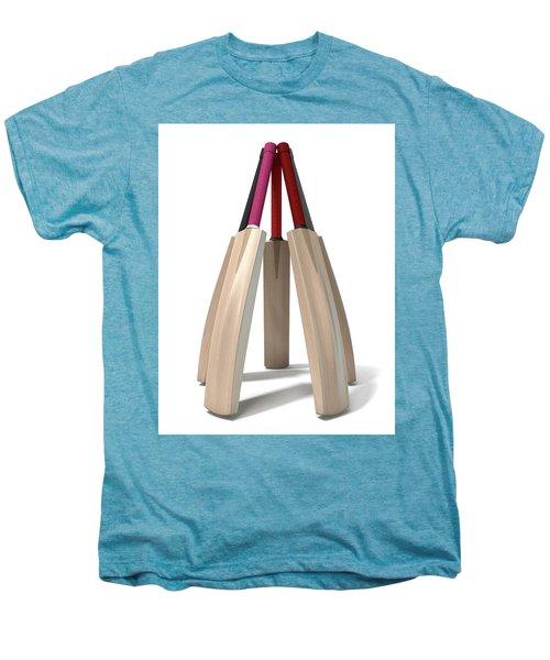 Cricket Bat Circle Men's Premium T-Shirt by Allan Swart