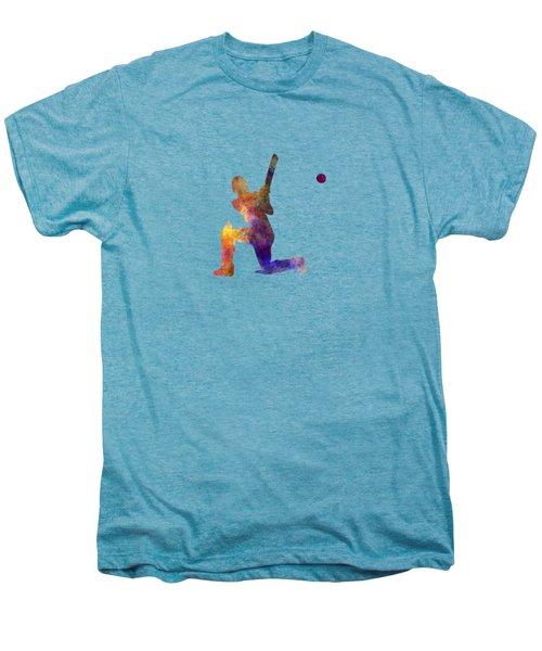 Cricket Player Batsman Silhouette 08 Men's Premium T-Shirt