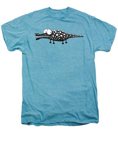 Crocodile Men's Premium T-Shirt by Lucia Stewart