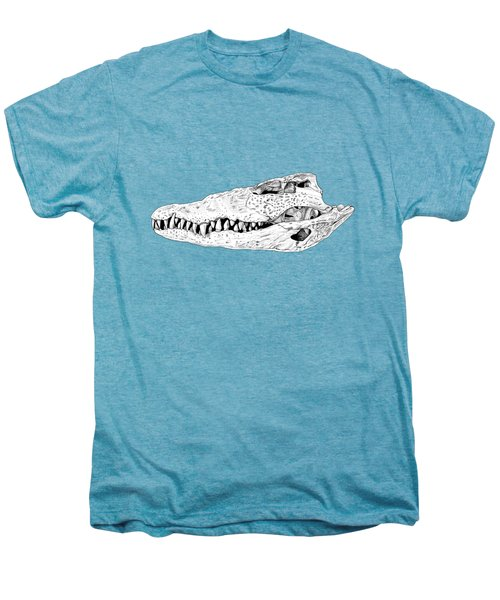 Crocodile Skull Men's Premium T-Shirt by Yuriy Shachnev