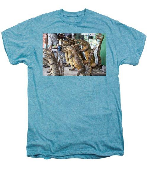 Crocodiles Rock  Men's Premium T-Shirt by Chuck Kuhn