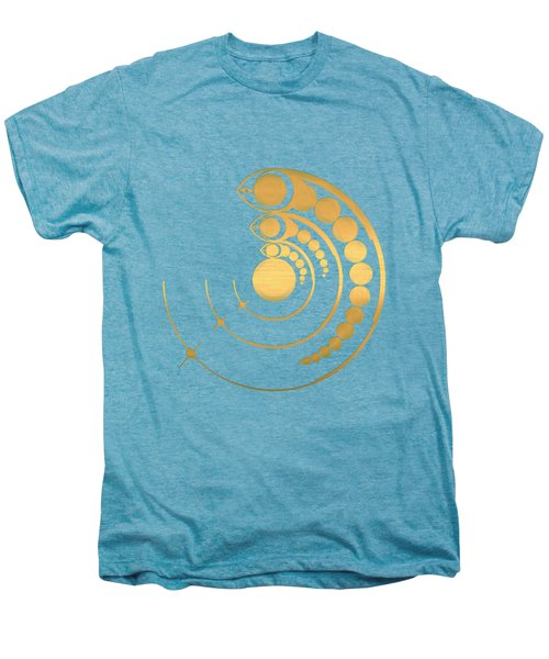 Crop Circle Formation Near Avebury Stone Circle In Wiltshire England In Gold Men's Premium T-Shirt