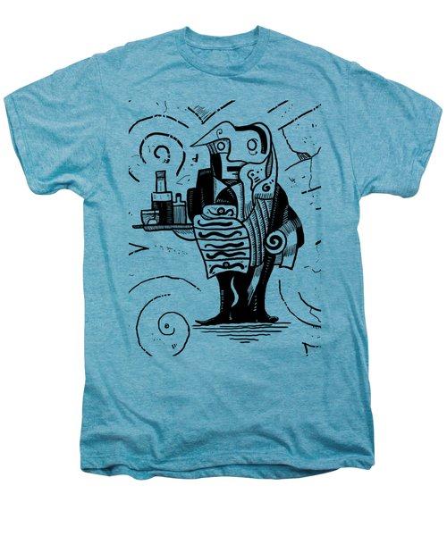 Cubist Waiter Men's Premium T-Shirt