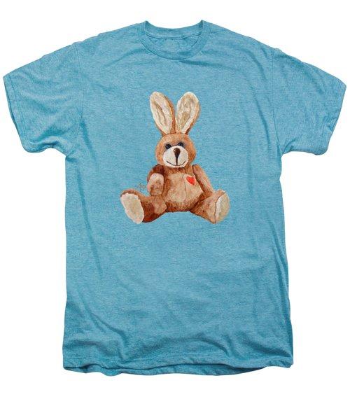 Cuddly Care Rabbit Men's Premium T-Shirt by Angeles M Pomata