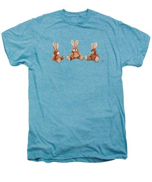 Cuddly Care Rabbit II Men's Premium T-Shirt by Angeles M Pomata
