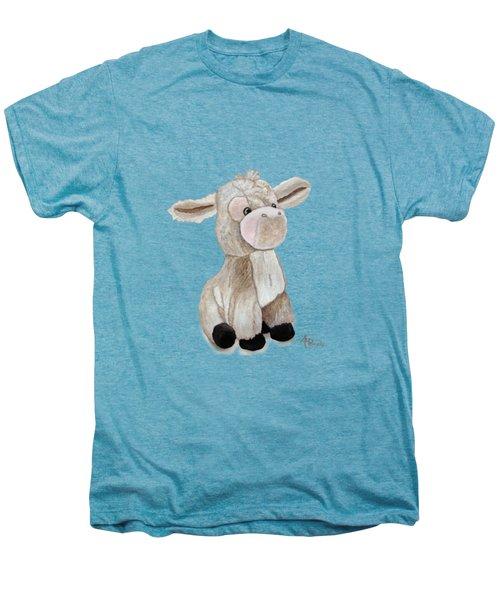 Cuddly Donkey Watercolor Men's Premium T-Shirt