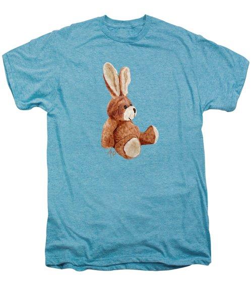 Cuddly Rabbit Men's Premium T-Shirt by Angeles M Pomata