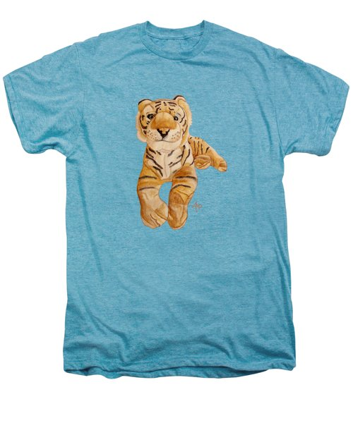 Cuddly Tiger Men's Premium T-Shirt by Angeles M Pomata