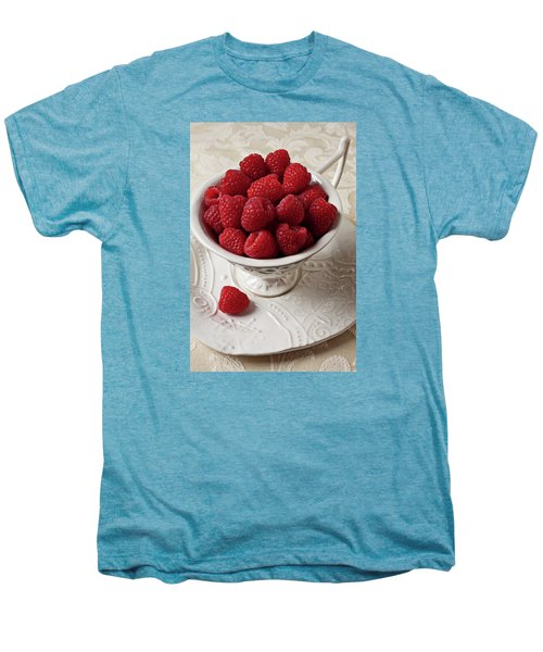 Cup Full Of Raspberries  Men's Premium T-Shirt by Garry Gay