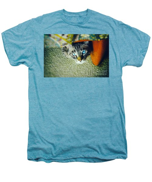Men's Premium T-Shirt featuring the photograph Curious Kitty by Silvia Ganora