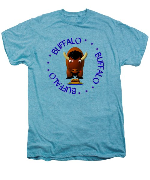 Cute Buffalo With Beef On Weck And Buffalo Wings Men's Premium T-Shirt by Rose Santuci-Sofranko