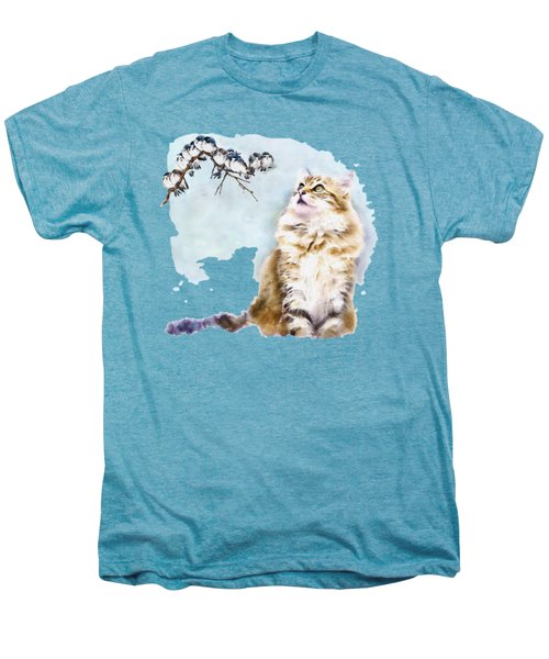 Cute Cat On The Lurk Men's Premium T-Shirt