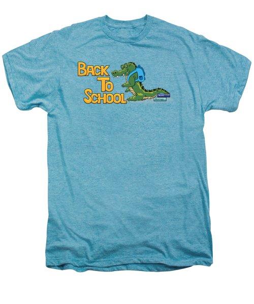 Cute Crocodile With Briefcase Men's Premium T-Shirt