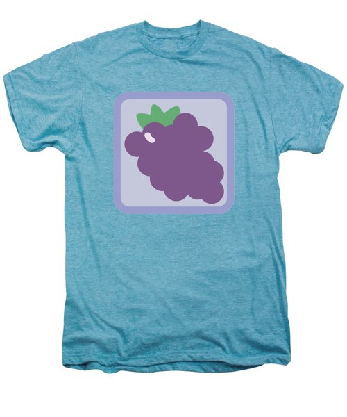 Cute Grapes Men's Premium T-Shirt by Caroline Goh