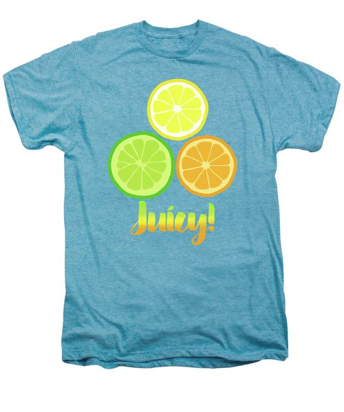 Cute Juicy Orange Lime Lemon Citrus Fun Art Men's Premium T-Shirt
