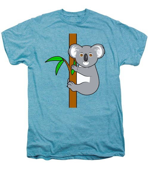 Koala With Eucalyptus Snack Men's Premium T-Shirt by A