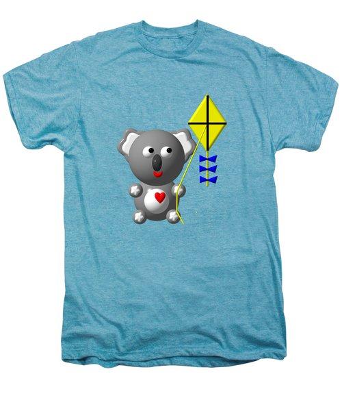 Cute Koala With Kite Men's Premium T-Shirt