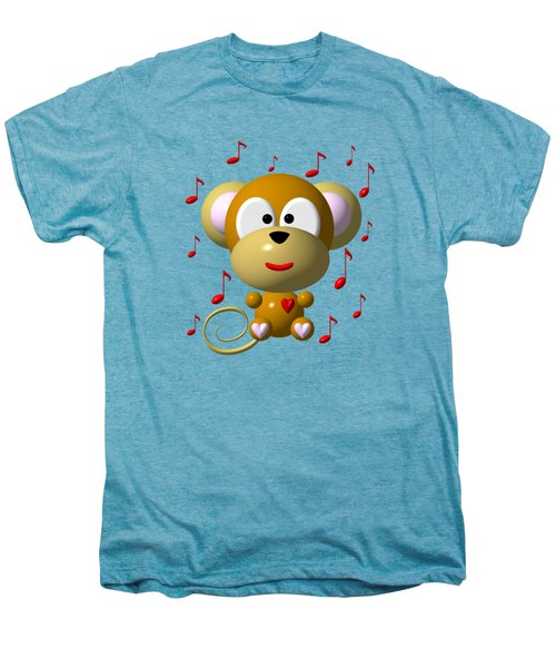 Cute Musical Monkey Men's Premium T-Shirt by Rose Santuci-Sofranko