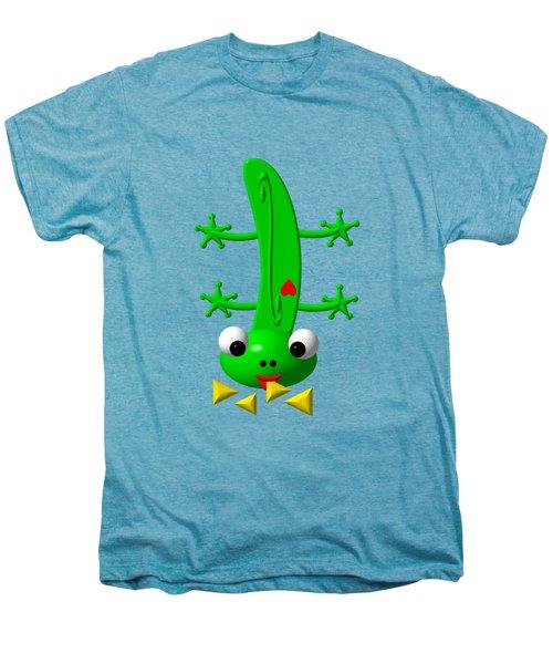 Cute Newt Nibbling Nachos Men's Premium T-Shirt by Rose Santuci-Sofranko