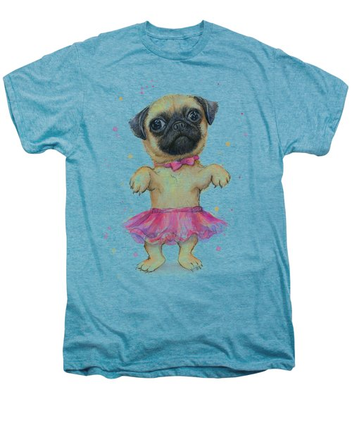 Cute Pug Puppy Men's Premium T-Shirt
