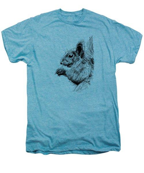 Cute Squirrel Men's Premium T-Shirt by Masha Batkova